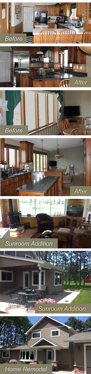 Eau Claire and Chippewa Falls home remodeling and additions construction